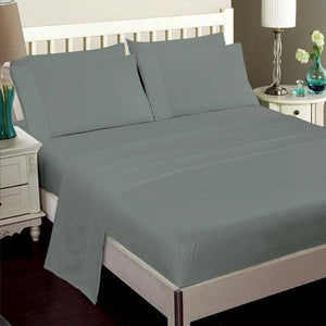 Luxury Bamboo Bed Sheet Set In Slate Grey
