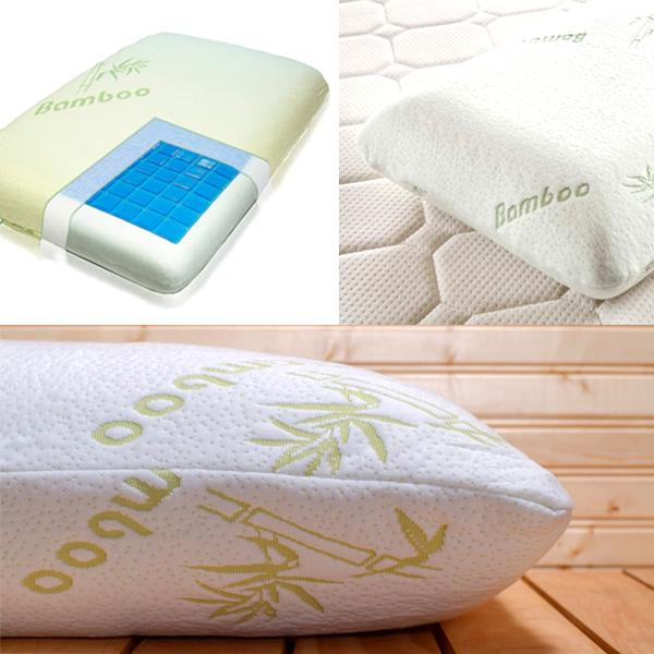 Luxury Bamboo Memory Foam Pillow With Cooling Gel Technology Pad - eFizzle