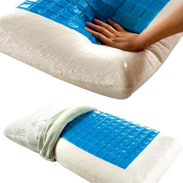 home luxury bamboo memory foam pillow with cooling gel technology pad