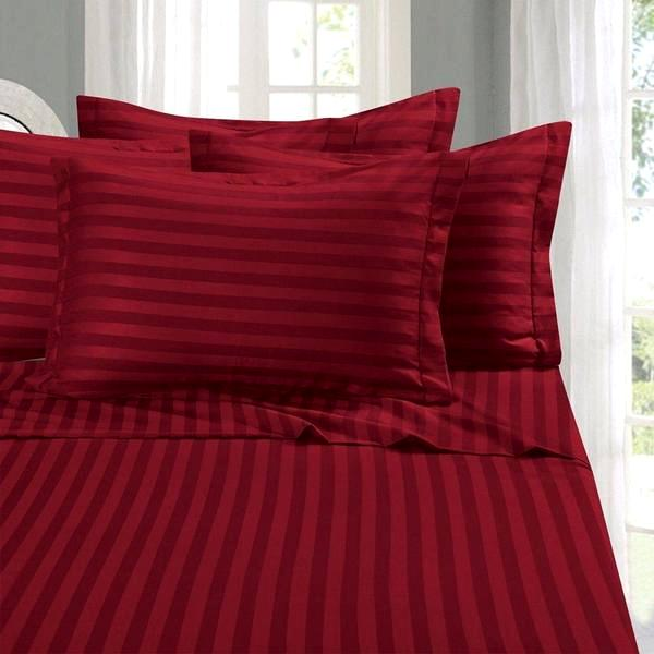 Home - Luxury Embossed Stripe Design Super Soft Deep-Pocket Bamboo Bed Sheet Set - Assorted Colours