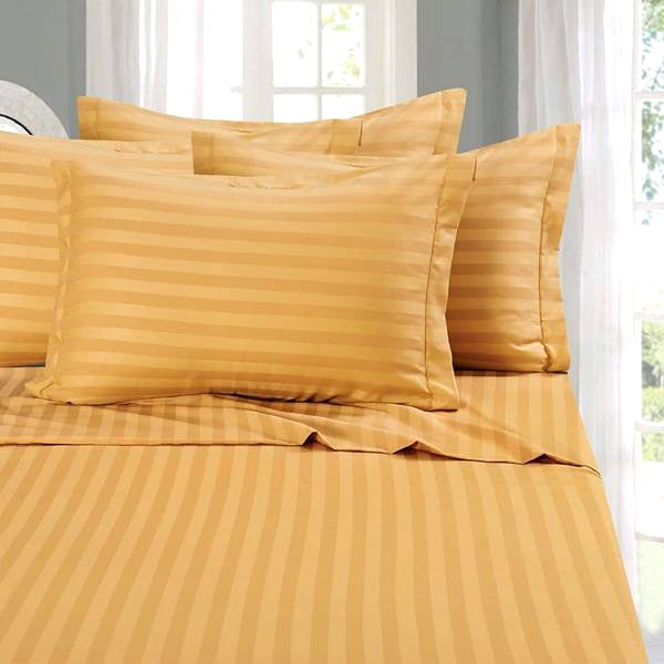 ... Home   Luxury Embossed Stripe Design Super Soft Deep Pocket Bamboo Bed  Sheet Set ...