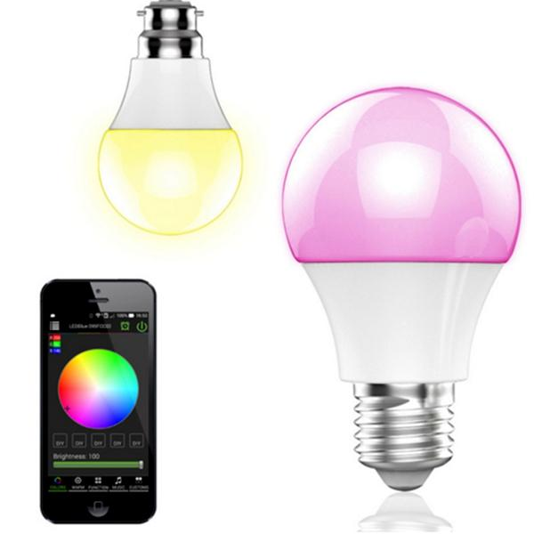 ... Home   Magic Color Changing Smart LED Light Bulb With Bluetooth Control  ...