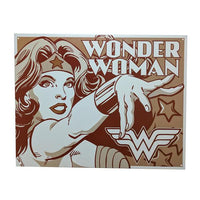 "Home - Monochrome Wonder Woman Vintage Collectible Metal Wall Decor Sign - 16"" X 12.5"""