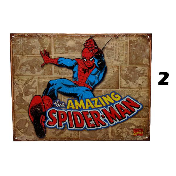 "Home - Retro ""The Amazing Spider-Man"" Vintage Collectible Metal Wall Decor Sign - 16"" X 12.5"""