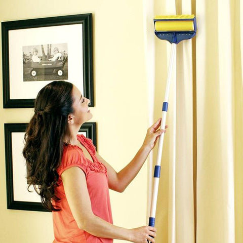 Home - Sticky Buddy Magic Cleaner - Pet Hair And Lint Remover Mop With Long Handle