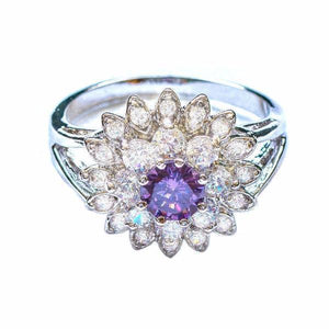 Jewelry - Aster Flower Gemstone Ring - Assorted Colors