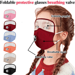 2 PACK: Kids Unisex Protective Facemask with Eye Shield