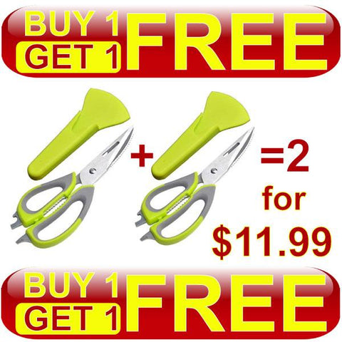 BOGO - 10-in-1 Kitchen Shears With Professional-Grade Stainless Steel Blades