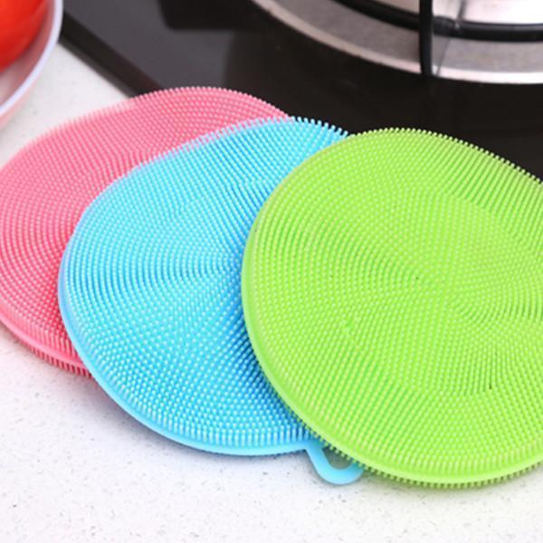3 Pack: Multipurpose Food-Grade Antibacterial Silicone Smart Scrub