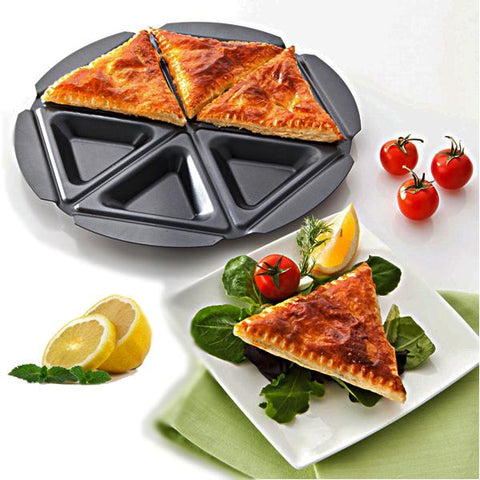 Kitchen - 6-Pocket Triangular Pie Baking Pan