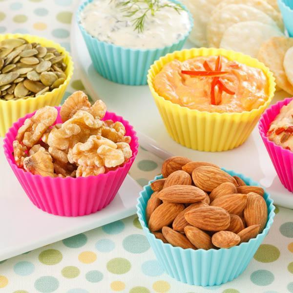 Kitchen - Silicone Baking Cups: Re-Usable Cupcake & Muffin Liners - Assorted Colors