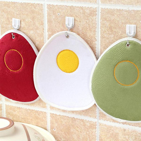 Kitchen - Super Absorbent Plush Microfiber Egg-Shaped Dish Cloth