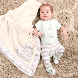 """Love You To The Moon & Back"" Royal Plush Baby Blanket"