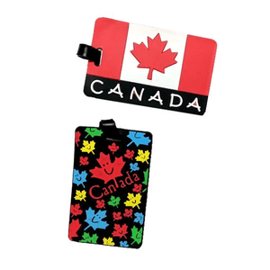 6 Pieces, 12 Pieces, or 24 Pieces Canadian Silicone Luggage Tags