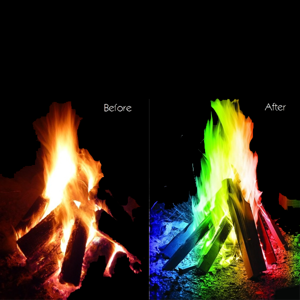 Long Lasting Multi Color Magical Flames
