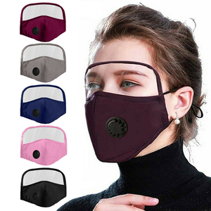 2 PACK: Unisex Protective Facemask with Eye Shield For Kids & Adults
