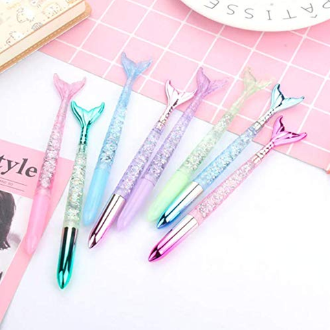 4 Piece: Mermaid Water Glitter Ballpoint Pen