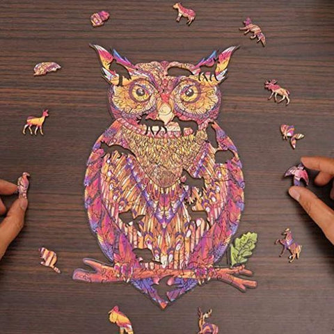 """Mystery Owl"" - Unique Shaped Wooden Jigsaw Puzzle"