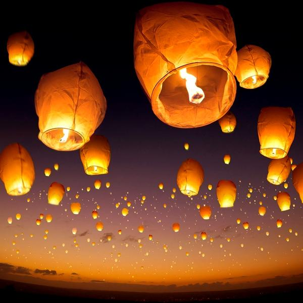 Outdoor - 10 Or 20 Pack: Sky Fly Fire Lanterns