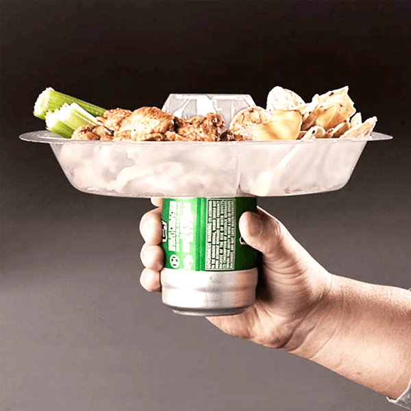 The Perfect One-Handed Party Plate & Drink Holder - Multi-Packs Available!