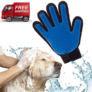 True Touch Five-Finger Deshedding Pet Glove + FREE SHIPPING