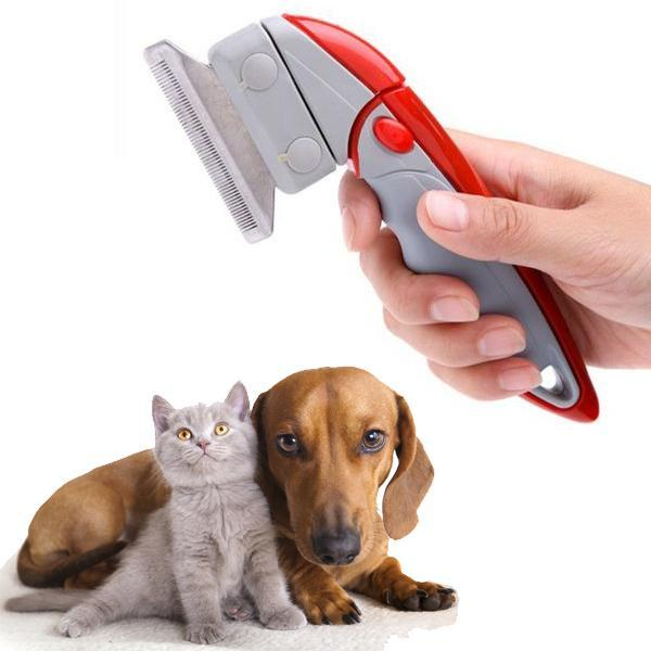 Pets - Deluxe Shed Ender Professional De-Shedding Tool With Pivoting Head For Pets