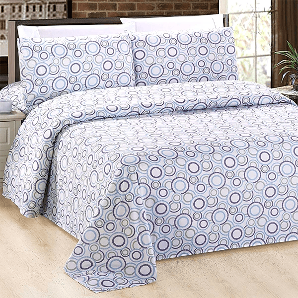 Silky Plush Bamboo Bed Sheet Set - Multi Circles