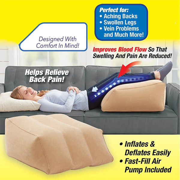 Inflatable Leg Elevation Pillow