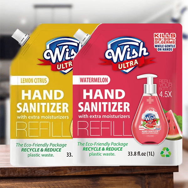 Wish Ultra Hand Sanitizer Refill Scented with Extra Moisturizer