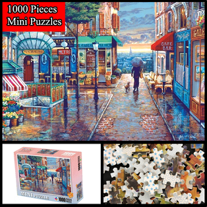 """Romantic Small Town"" 1000 Pieces Mini Jigsaw Puzzles"