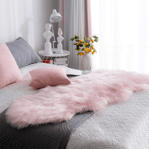 Pink Luxury Sheepskin Area Rugs