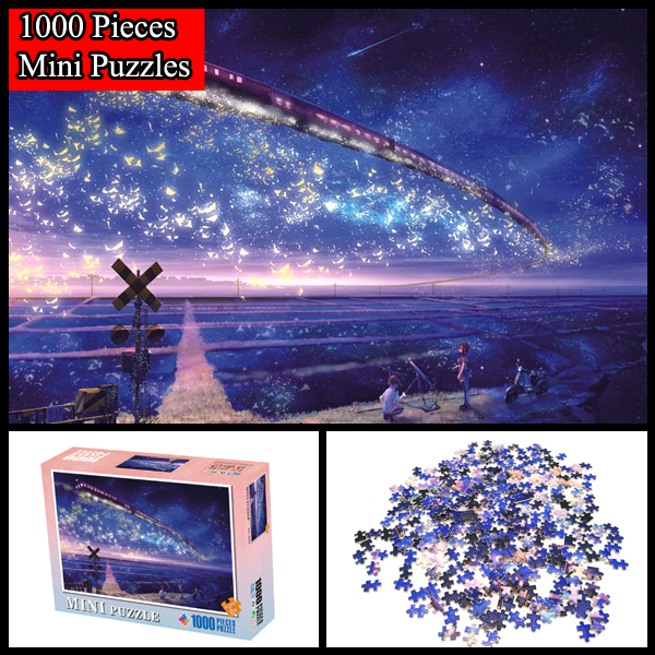 """Train Under The Starry Night"" 1000 Pieces Mini Jigsaw Puzzles"