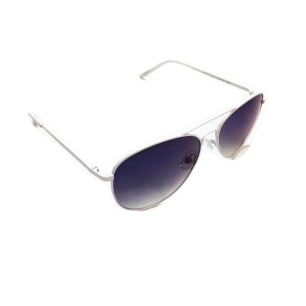 Sunglasses - White Mirrored Ink Cloud Sunglasses
