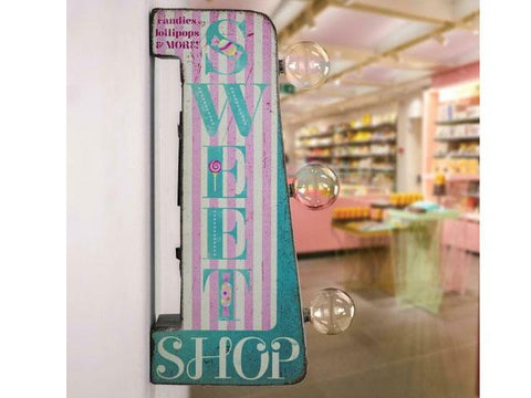 Vintage Metal Marquee LED Sign - Sweet Shop