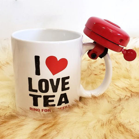 """I Love Tea"" Coffee Mug With Bell"
