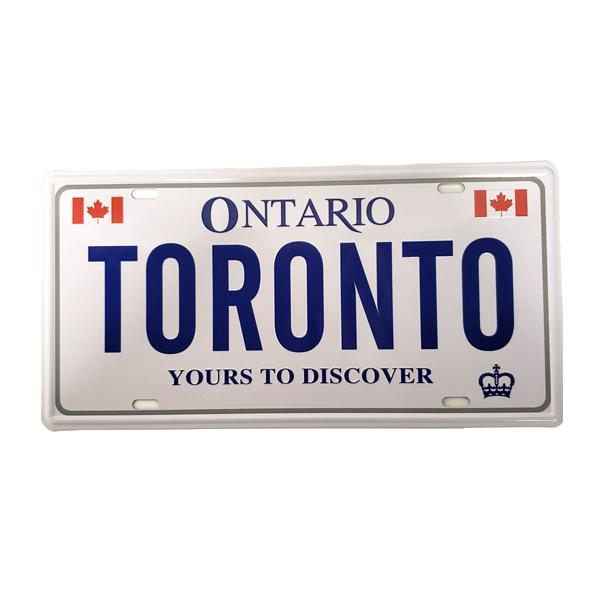 """Toronto, Yours To Discover"" Vintage License Plate Wall Decor Sign"