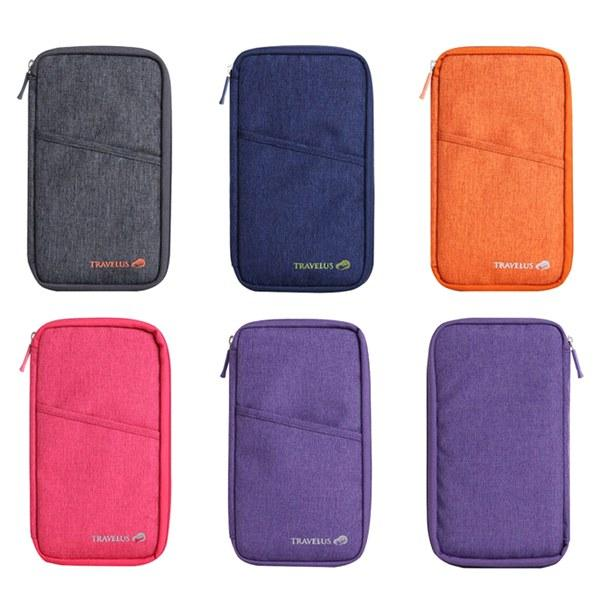Travel - Zipped Travel Document And Passport Holder - Assorted Colors