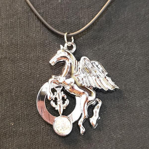 Unicorn Pendant On A Black Nylon Chain