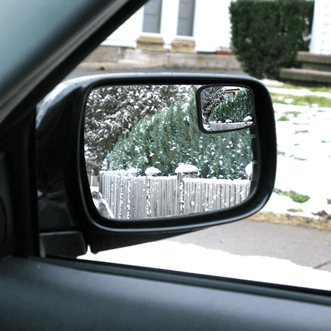 Set Of 2: Peel & Stick Adjustable Blind Spot Automotive Mirror - Works On All Vehicles!
