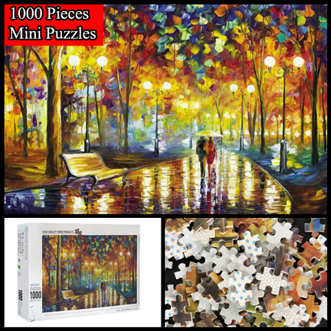 """Walking Under The Rain"" 1000 Pieces Mini Jigsaw Puzzles"