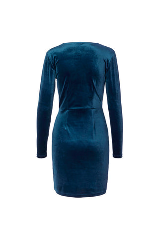 Madena Rewind Velvet Dress Ancient Blue