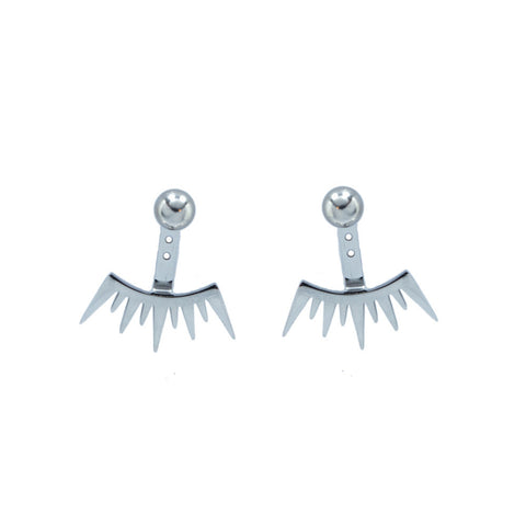 Silver Wink Wink Earrings