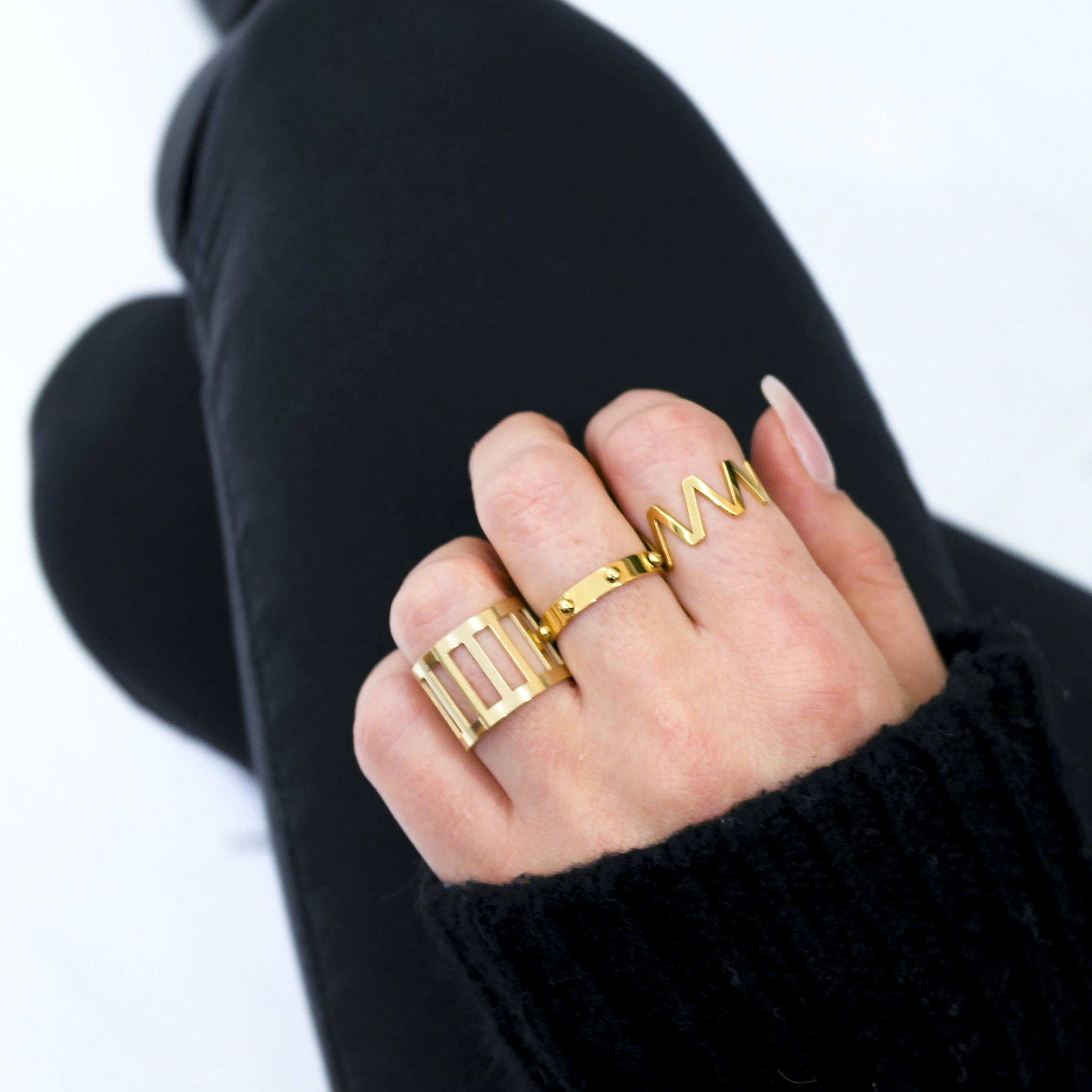 Gold Studded Ring