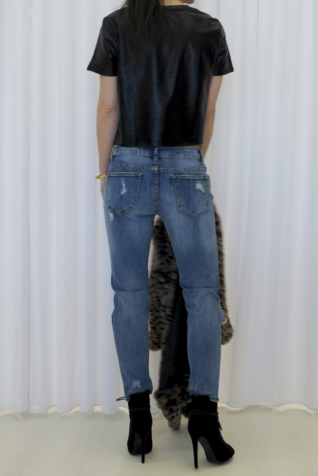 Wripped Boyfriend Jeans Blue