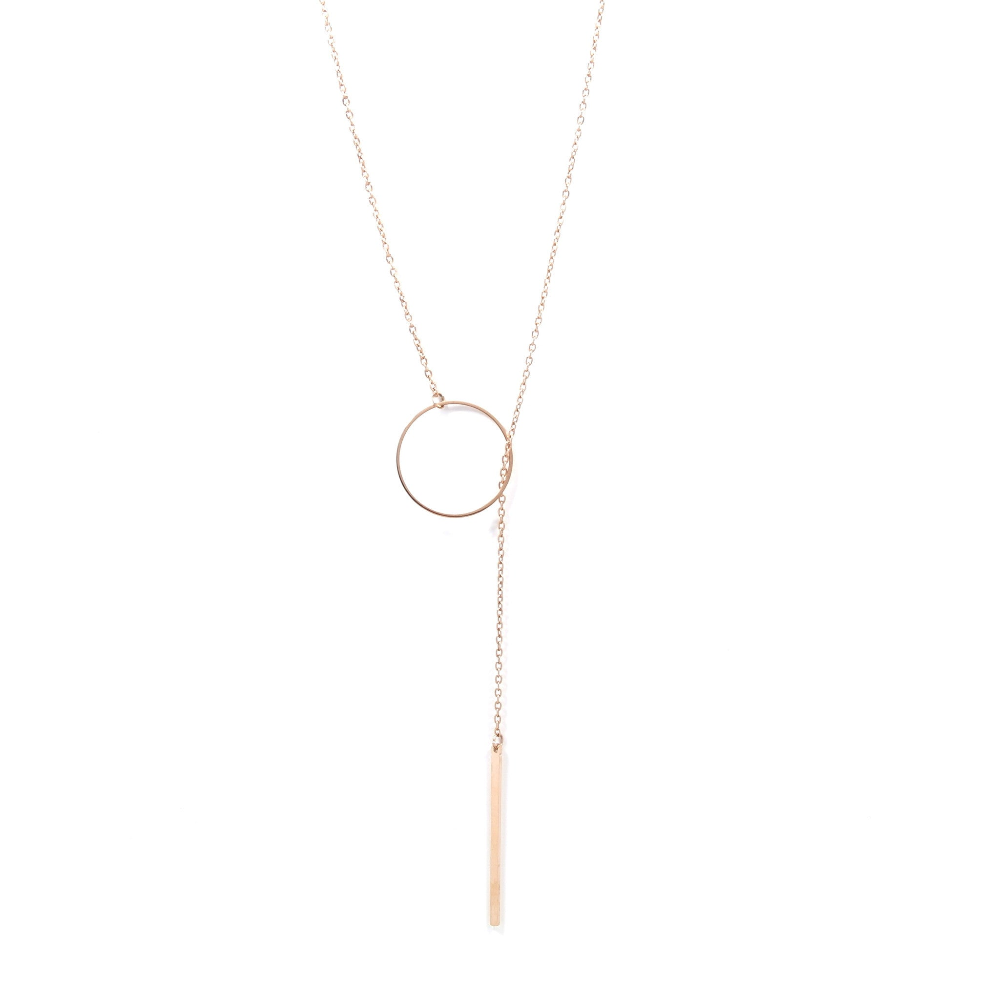 Through The Loop Rose Gold S Necklace
