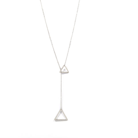 Silver Through The Triangle Necklace