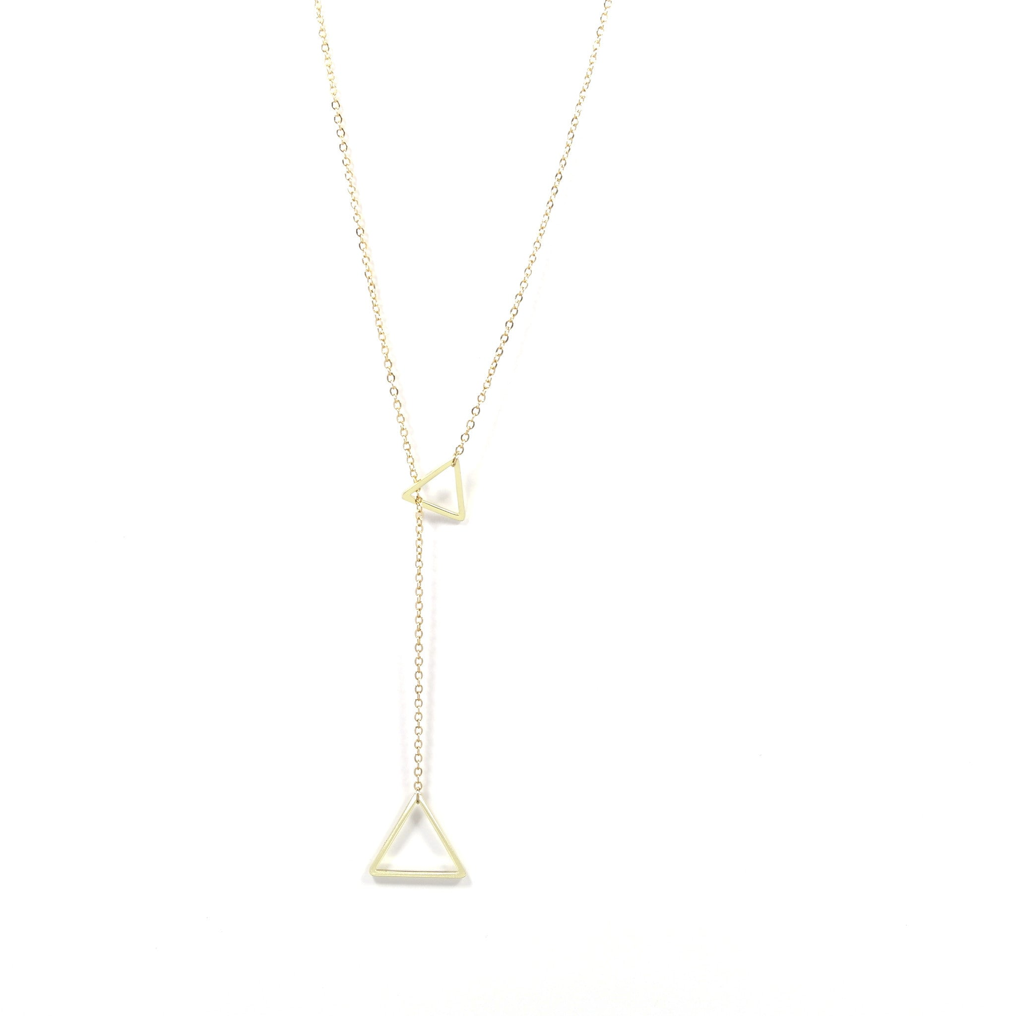 Gold Through The Triangle Necklace