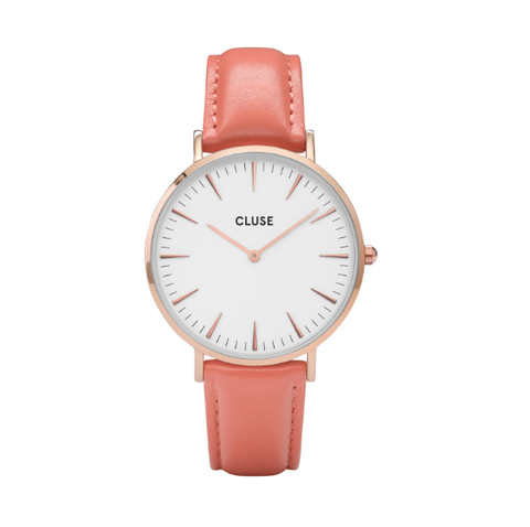 Cluse La Bohème Rose Gold White/Flamingo Watch