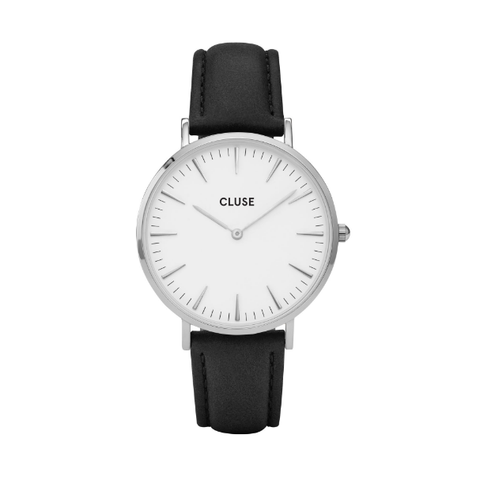 Cluse La Bohème Silver White/Black Watch