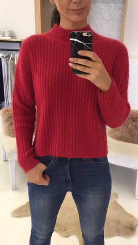 Crazy Knit Red